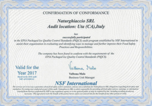 Certificato Qualità NSF International
